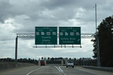 I-185 south at US 27-280/SR 520 - Columbus, GA