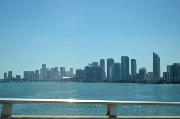 Downtown Miami, Florida from I-195