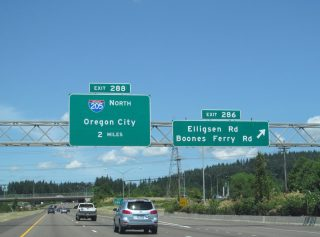 I-5 north at I-205 - Wilsonville, OR