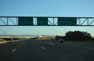 I-5 south at I-205 - Lathrop, CA