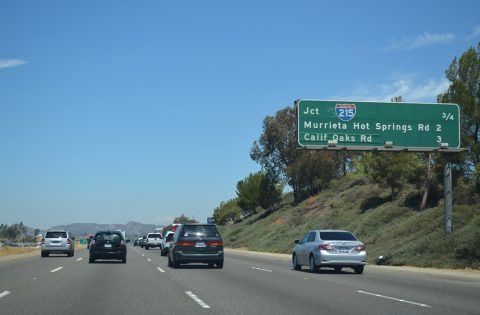 I-15 north at I-215 - Murrieta, CA