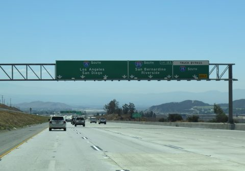I-15 south at I-215 - Devore, CA