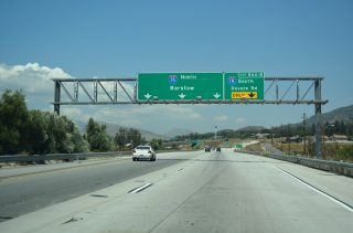 I-215 north at I-15 - Devore, CA