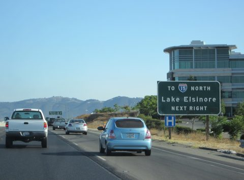 I-215 south at I-15 - Murietta, CA