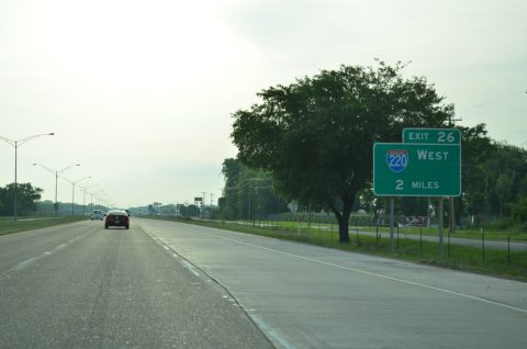 I-20 east at I-220 - Bossier City, LA