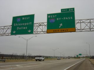 I-20 west at I-220 - Bossier City, LA