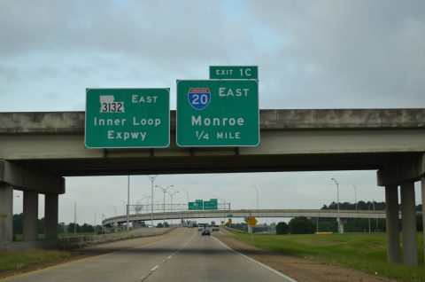 I-220/49 west at I-20/LA 3132 - Shreveport