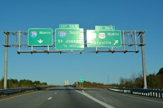I-29/US 59-71 north at I-229 - Savannah, MO