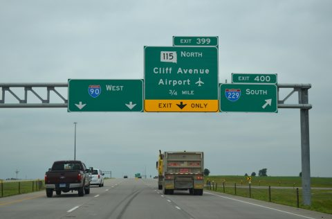I-90 west at I-229 - Sioux Falls, SD
