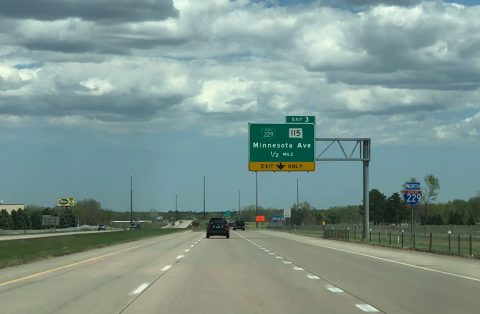 I-229 north at Business Loop 229/SD 115 - Sioux Falls