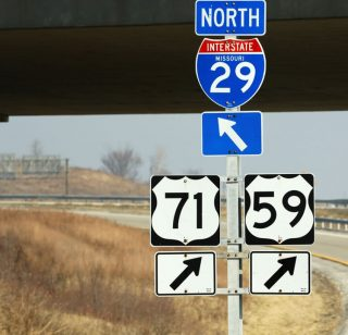 I-229 north at I-29/US 59-71 - Savannah, MO