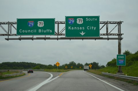 I-229 south at I-29/US 71 - St. Joseph, MO