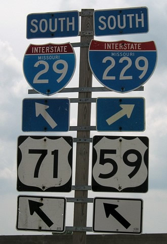 US 59/71 south at I-29/229 - 2006
