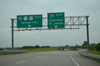 US 59/71 south at I-29/229 - Savannah, MO