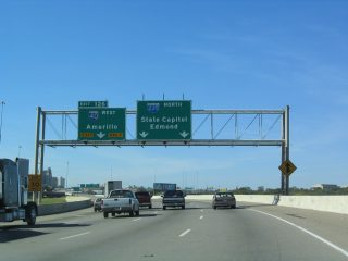 I-35/US 77 north at I-40/235 - 2003