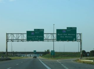 I-35 north at I-80/235 - 2005