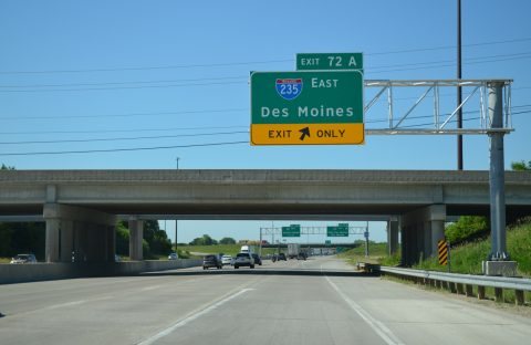 I-35 north at I-80/235 - West Des Moines, IA