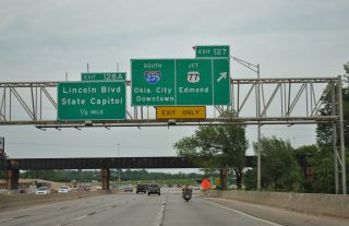 I-44 east at I-235/US 77 - 2012