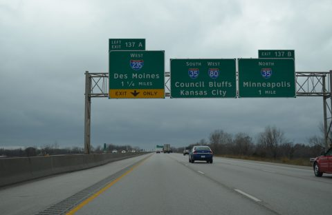 I-80 west at I-35/235 - Altoona, IA