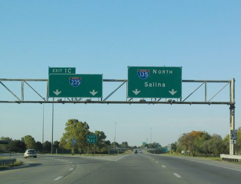 I-135/US 81 south at I-235 - 2003
