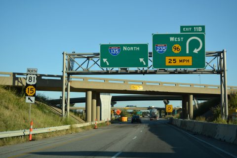 I-135/US 81/K-15 north at I-235/K-96/254 - Wichita, KS