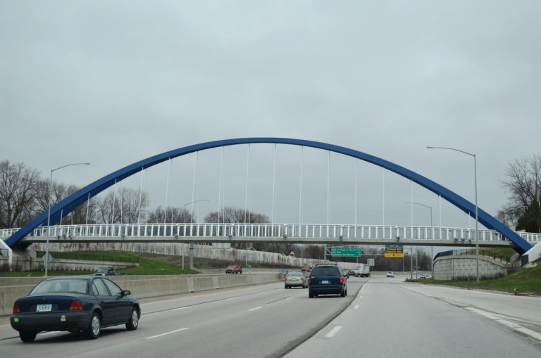 I-235 at 44th St Pedestrian Bridge - Des Moines, IA