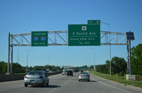 I-235 east at US 6 - Des Moines, IA