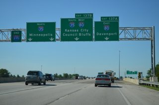I-235 east at I-35/80 - Des Moines, IA