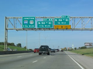 I-235 north at I-44 - 2003