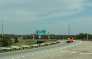 I-235/K-96 north at I-135/US 81/K-254 - Wichita, KS