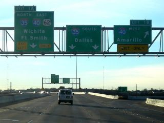 I-235/US 77 south at I-35/40 - 2005