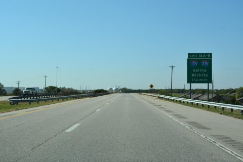 K-254 west at I-135/235-US 81/K-96 - Wichita, KS