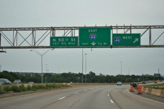 US 77 south at I-44/235 - 2012