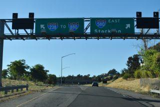 SR 238 north at I-238/580