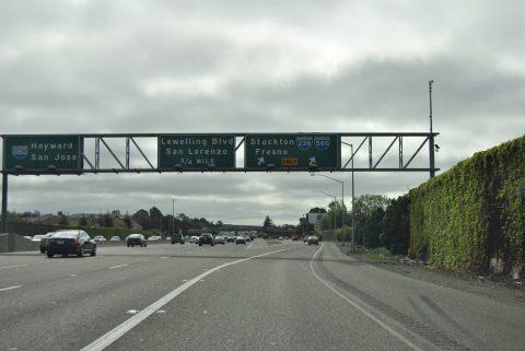 I-880 south at I-238 - San Leandro, CA