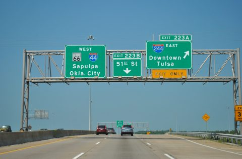 I-44/SH 66 west at I-244 - Tulsa, OK