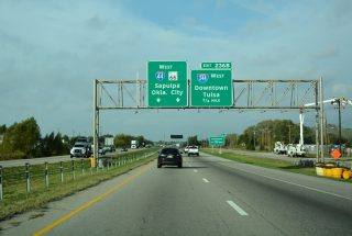 I-44/US 412/SH 66 west at I-244 - Catoosa, OK