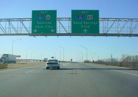 I-44/US 412/SH 66 west at I-244 - 2002