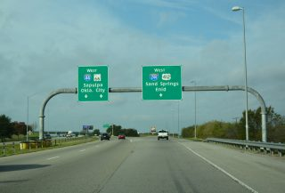 I-44/US 412/SH 66 west at I-244 - Tulsa, OK