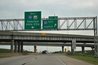 I-244 west at I-44/SH 66 - Tulsa, OK