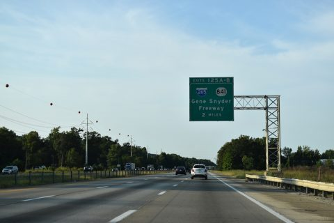 I-65 north at I-265/KY 841 - Louisville