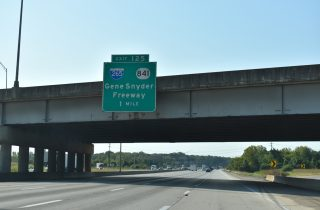 I-65 south at I-265/KY 841 - Louisville