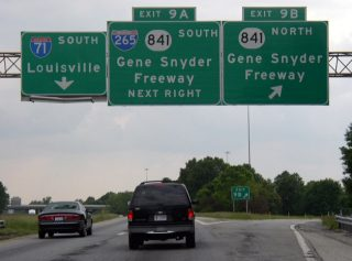 I-71 south at I-265/KY 841 - Louisville