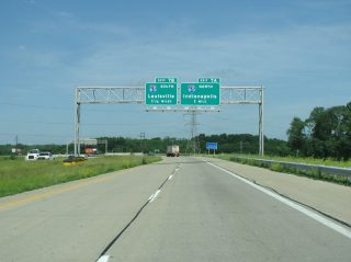 SR 62/265 west at I-65/265 - Clarksville, IN