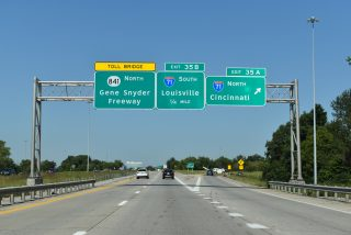 I-265 north at I-71 - Louisville, KY