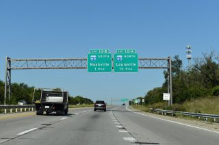I-265/KY 841 west at I-65 - Louisville