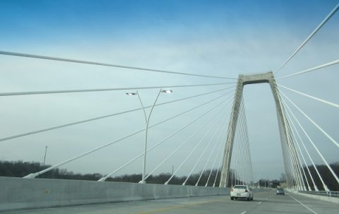 KY 841 north - Lewis and Clark Bridge
