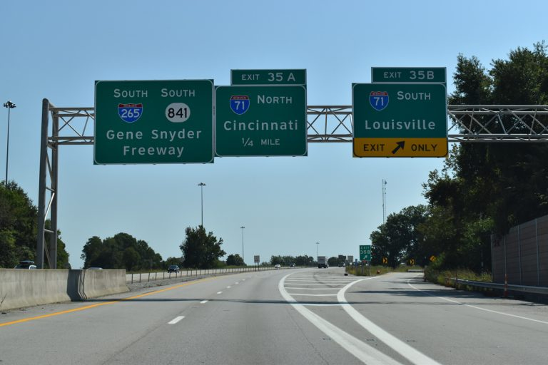 I-265/KY 841 south at I-71 - Louisville