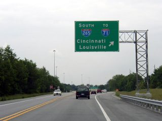 KY 841 south at I-71/265 - Louisville
