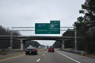 I-40 east at I-269/SR 385 - Arlington, TN